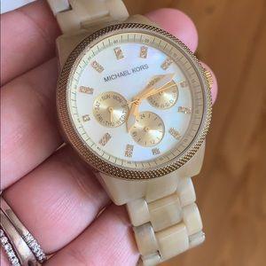 Michael Kors Womens Gold Resin Watch